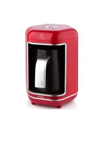 King K-605 Kısmet Türk Kahve Makinesi Kırmızı